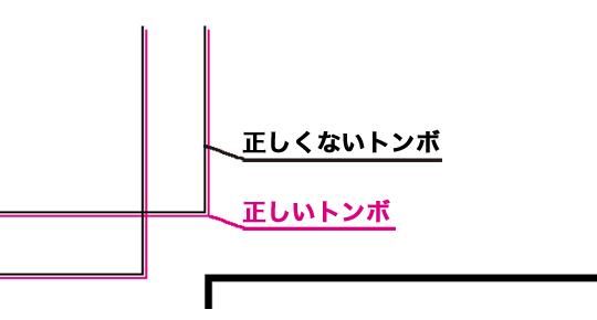 罫線があるオブジェクト設定したためにズレてしまったトンボ